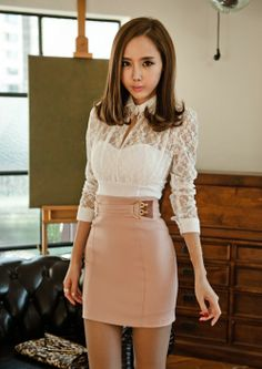 White Lace with Pink Skirt.