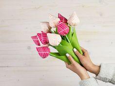 DIY-Anleitung: Tulpen nähen. Diese Blumen wirken einfach immer schön.