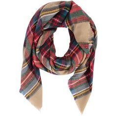 Armitage Avenue Square Shaped Plaid Scarf