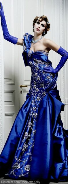 Christian Dior Haute Couture Gown   F/W 2007-08 #Blue
