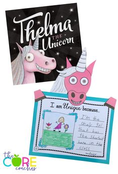Thelma the Unicorn writing and craftivity