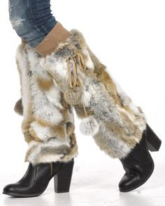 Natural Rabbit Fur Boot Covers Leg Warmers  FurHatWorld.com Fur  Accessories, Vintage d7eb20a888b