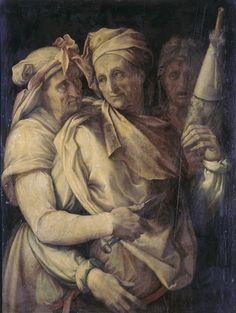 Salviati , dit Francesco de Rossi (1510-1563) - Les Trois Parques - Peinture