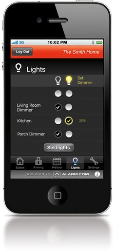 Using my Alarm.com iPhone app for home energy and security more and more these days