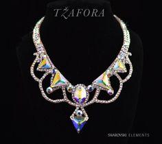 Triangle fun in Crystal AB... ballroom necklace jewelry.