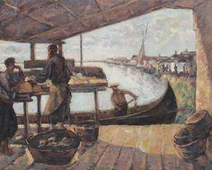 """Nicolae Dărăscu, """"Fishery"""" - danube delta."""