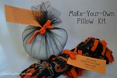Personalized Make-Your-Own Pillow Kit - a favor that won't hit the trash can in 24 hours :)