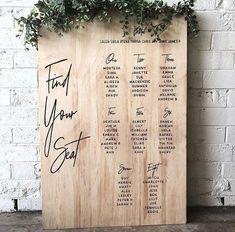 70 ideas for wedding table plan simple seating charts Table Seating Chart, Wedding Table Seating, Wedding Seating Charts, Wedding Table Plans, Wedding Reception Tables, Diy Wedding, Wedding Day, Trendy Wedding, Wedding Favors