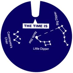 """Make Your Own Star Clock. Print out and build your own """"star clock"""" to tell the time by the position of three easy to spot constellations! A great """"hands on"""" Astronomy project!"""
