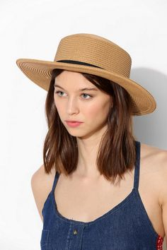 42f0ff88dad Laid-Back Straw Boater Hat. Urban Outfitters ...