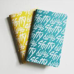 Lemon and Blue Raspberry Shitty Notebooks.