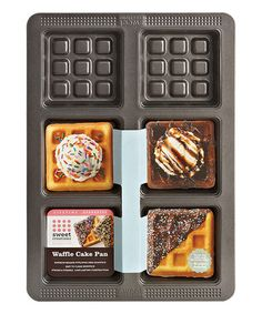 Another great find on #zulily! Waffle Cake Pan #zulilyfinds