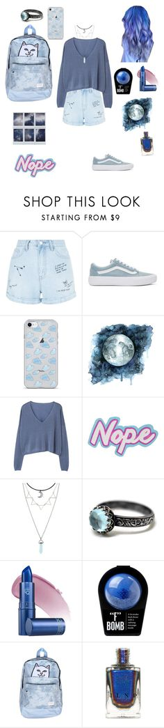 """The sky and the stars"" by myintrovertedself ❤ liked on Polyvore featuring New Look, Vans, MANGO, Hot Topic, Lipstick Queen and RIPNDIP"