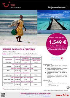 ¡Plazas limitadas! Semana Santa en Isla ZANZÍBAR. Precio final desde 1.549€ - http://zocotours.com/plazas-limitadas-semana-santa-en-isla-zanzibar-precio-final-desde-1-549e/