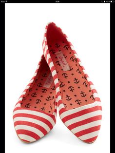 zapato a rayas