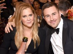Amy Schumer & Ben Hanisch from 2017 Golden Globes: Candid Moments