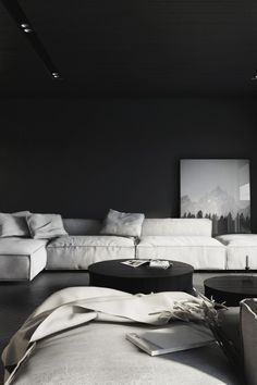"envyavenue: "" Dark Living Room by KUOO Architects. """