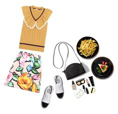 The girl he loves. by jesuisfoufou on Polyvore featuring Miu Miu, Love Moschino, Bobbi Brown Cosmetics and G/Fore  #seebuywear #ootd #2016trends #spring2016 #summer2016 #summerdate #datenight #nightout #DailyFind #styleessentials #wardrobestaples #CelebrityStyle #candylips #casualchic #casualoutfit #feminine #girlpower #girlsnightout #GetTheLook #LookForLess #colorchallenge #floralskirts