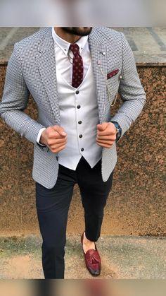 Beautiful Outfits, Beautiful Clothes, Dapper Dan, Formal Suits, Suit Vest, Men's Suits, Black Suits, Wedding Suits, Latest Fashion Trends