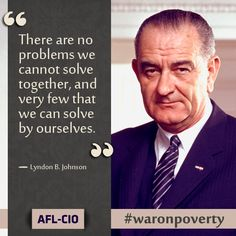 Today is the 50th Anniversary of President LBJ's War on Poverty initiative. #waronpverty