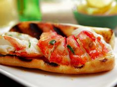 Hot Lobster Roll with Lemon-Tarragon Butter Recipe : Bobby Flay : Food Network - FoodNetwork.com