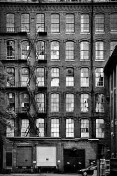 black-and-white Facade