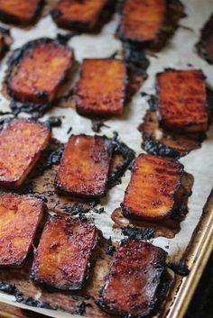 Kitchen Grrrls.: Baked Sriracha Tofu (Vegan)