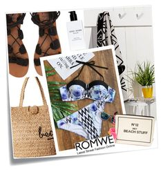 """""""Untitled #2160"""" by crittertank on Polyvore featuring Post-It, Hat Attack, Billabong, Bag-All, Bobbi Brown Cosmetics, Chanel, beach, romwe, bags and BobbiBrown"""