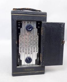 Rare-Uncommon-Vintage-Early-20c-Lafayette-Superhet-Portable-Radio-Receiver-E191