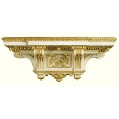 date unspecified An Italian ivory painted and parcel-gilt neo-classical wall bracket, probably Turin late century Estimate — GBP LOT SOLD. Modern Art, Contemporary, Wall Brackets, Turin, 18th Century, Restoration, Auction, Prints