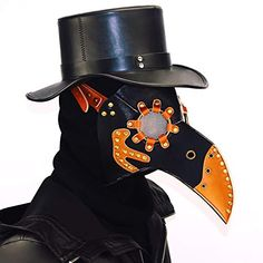 2018 Kingwolfox Halloween Scary PU Leather and Metal Accessories Plague Doctor Bird Mask Beak Doctor Christmas Costume Props and more Halloween Masks, Scary Halloween Masks for Bird Mask Doctor, Plague Bird Mask, Plague Doctor Mask, Bird Masks, Plague Dr, Plague Doctor Halloween Costume, Doctor Costume, Halloween Cosplay, Halloween Prop
