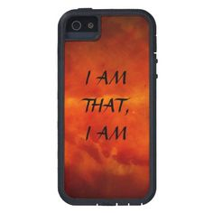 I AM THAT I AM, CASE FOR iPhone 5 #MOSES#GOD#RELIGION