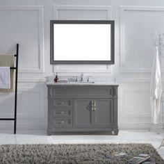 Virtu USA - MS-2648-WMSQ-GR-002 - Victoria 48 in. Bathroom Vanity Set front view