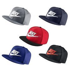 Nike Futura True 2 Snapback Hat Adjustable Cap Sport Black Red Navy Blue Grey