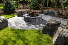 Belvedere Circle Firepit in Pacific Grey