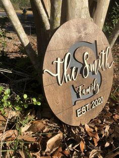 Wooden Family Name Sign, Wood Name Sign, Family Name Signs, Personalized Wooden Signs, Custom Wood Signs, Personalized Wedding Gifts, Engraved Wood Signs, Carved Wood Signs, Custom Wall