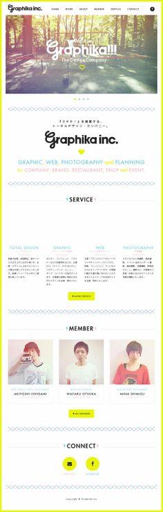 The website 'http://www.graphika-inc.com/' courtesy of @Pinstamatic (http://pinstamatic.com)