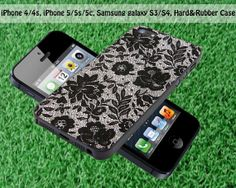 Flower Lace Print for iPhone 4 / 4S iPhone 5S by FASTYCorner, $13.00