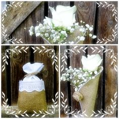 Burlap and lace, a beautiful combo, especially if you are planning a rustic wedding. Come and take a look at my burlap wedding decorations and accessories: https://www.etsy.com/shop/MelindasSewingCorner?ref=profile_shopname