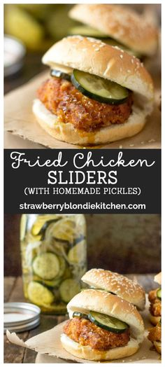These Delicious Fried Chicken Sliders Are Cooked Until Golden Brown, Topped With Homemade Pickles And Nestled Into A Slider Bun For The Perfect Bite Of Comfort Food Ad Pepperidgefarm Chicken Sandwich Recipes, Fried Chicken Sandwich, Chicken Sliders, Burger Recipes, Appetizer Recipes, Appetizers, Yummy Recipes, Entree Recipes, Wrap Recipes