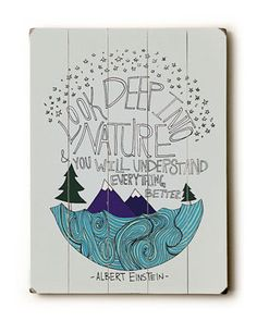 Look Deep Into Nature by Leah Flores