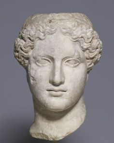 Statue head of Hera - marble, copy after Phidias in 1st century AD, original 4th century BC, at the Walters Art Museum, Baltimore