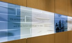 Detail of Raised Panel Elements, Branded Environment, Confidential financial services client, Ayers Saint Gross