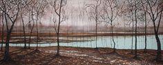 Wet Land Forest Landscape Paintings, Sky, Heaven, Landscape, Landscape Drawings