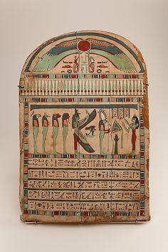 Stela of the Lady of the House, Tabiemmut. Kushite Period - Saite Period, 25th-26th Dynasty, ca. 750-525 B.C.