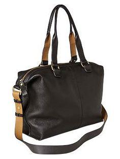 Leather satchel | @Gap