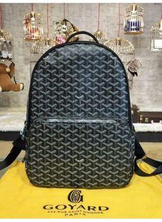 f63161b4aaa Replica Goyard Backpack Exterior Zip Pocket Blue