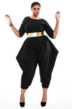 JIBRI Plus Size Mid Sleeved Jumpsuit by jibrionline on Etsy