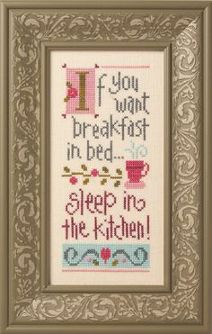 If you want breakfast in bed...