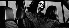 black and white neve campbell gif Neve Campbell, Grim Reaper, Cat Gif, Black And White, Scream, Image, Black N White, Black White, Shinigami